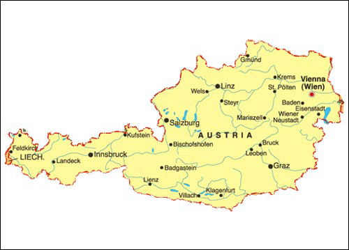 Austria Map Maps of Austria